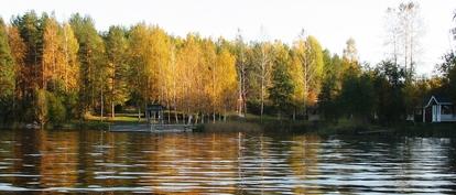 Näkymä järveltä päin