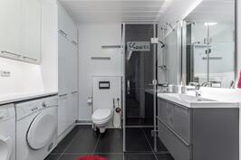 Kodinhoitohuone sekä WC