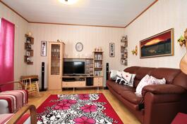 Talon nykyiset asukkaat käyttävät alakerran makuuhuonetta olohuoneena