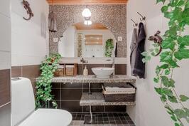 Alakerran toinen wc pukuhuoneen yhteydessä