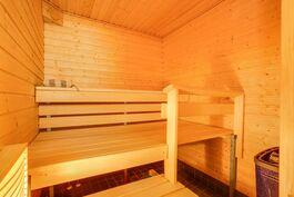 hyväkuntoinen sauna