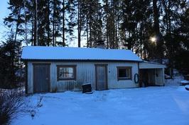 Ulkorakennus jossa sauna