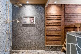 Sauna ja pesuhuonetunnelmaa