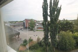 ikkunanäkymä keskustan suuntaan