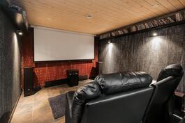 Kellarin elokuvahuone