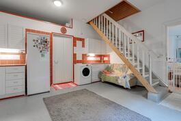 Iso ja käytännöllinen kodinhoitohuone