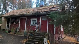 Pihan sauna/liiteri rakennus