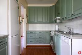Keittiön kaapistot ja kodinkoneet