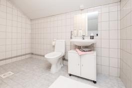 Yläkerran wc- /suihkutila