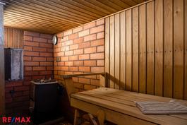 Kellarikerros: sauna (puukiuas)