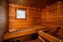 Sauna on hyvänkokoinen.