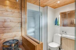 Ihana sauna, kyllä täällä muutama saunoo samaan aikaan!