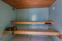 Sauna uima-allasosastolla