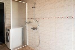Pesuhuone, kokonaan laatoitettu,  remontoitu 1999, vesikiertoinen lattialämmitys