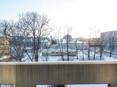 Parvekenäkymät talvella