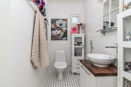 Alakerran tilava, erillinen wc
