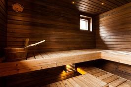 Piharakennuksen saunasta