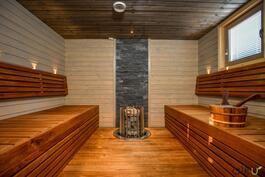 Isossa saunassa mahtuu isompikin porukka kylpemään yhtäaikaa