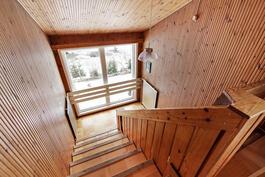 Portaikossa on ihanaa alppitalo-tunnelmaa.