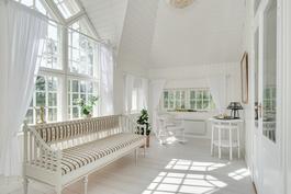 """""""Pitsihuoneestakin"""" saisi ihastuttavan makuuhuoneen/ Spetsrummet kan användas som ett sovrum"""