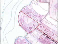tontin rajat punaisella, laivaväylä kulkee editse