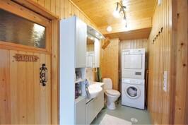 Kodinhoitohuone ja wc