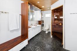 sauna/pesuhuoneosasto