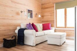 Sauna- ja kylpyhuonepäädyssä on tilaa