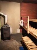 Kellari tiloissa sauna