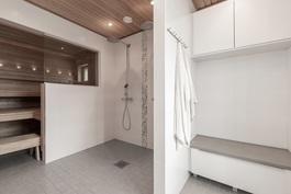 Sauna/pesuhuone/pukeutumistila