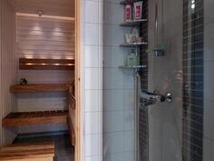 Sauna, kuituvalot, suihku