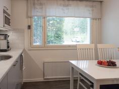 keittiön ikkunassa sälekaihtimet