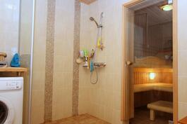 Kylpyhuone on remontoitu ammattilaisen toimesta v.2016