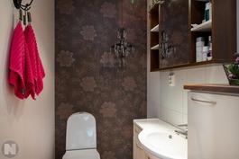 Erillinen wc alakerrassa.