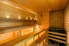 Taloyhtiön sauna. Saneerattu 2018
