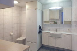 Kodinhoitohuone ja wc-tila