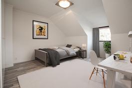 Yläkerran makuuhuone - virtuaalikalustettu