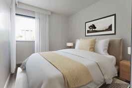 Alakerran makuuhuone - virtuaalikalustettu