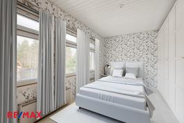 Makuuhuone virtuaalistailattuna
