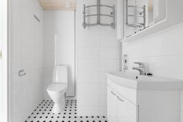 Modernisti remontoitu kylpyhuone/WC