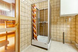 Suihkukaappi joka pitää kylpyhuoneen kuivana