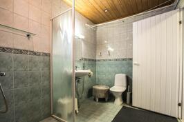 Kylpyhuoneessa wc- istuin