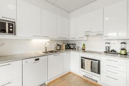 Käytännöllinen valoisa keittiö / Praktiskt och ljust kök