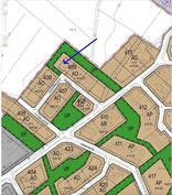 Kaavakartta, kiinteistö rajautuu puistoalueeseen.