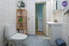 Talossa on kolme wc:tä