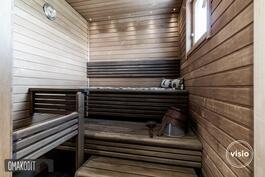 Tunnelmallisessa saunassa sähkökiuas
