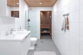 Viitteellinen kuva saunallisesta asunnosta.