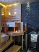 Sauna, puulämmitteinen kiuas, varaus sähkökiukaall