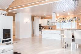Olohuoneesta keittiön suuntaan