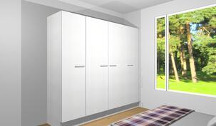Tulevaa kalustekuvaa makuuhuoneesta (12,8m²)